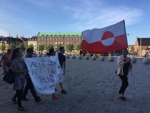 Greenland flag Copenhagen